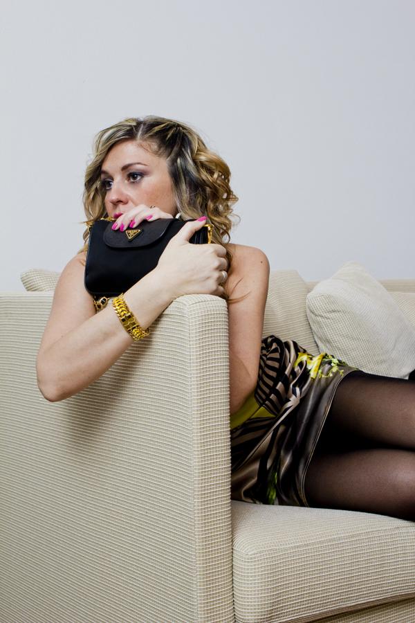 La Fashion Blogger Cristina Lodi con trucco Estetica La Dolce Vita