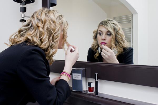 Cristina Lodi con Le Rouge Givenchy