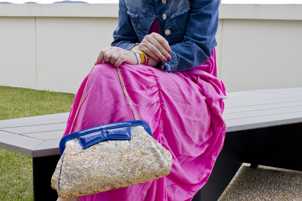 La Fashion Blogger Cristina Lodi con borsa Ludicious