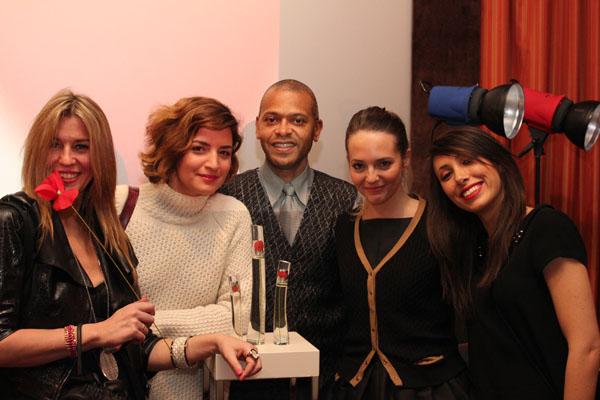 Cristina Lodi, Angeza Tufina, il fotografo Eric Claine,  Virginia Varinelli con  Silvia Foschi di Lvmh