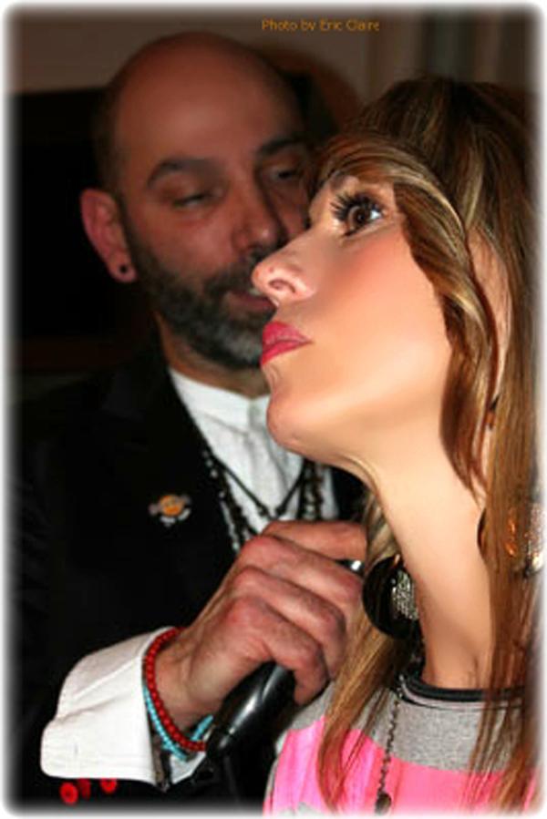 La Fashion Blogger Cristina Lodi con il parrucchiere Volpicelli
