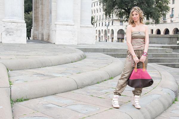 La Fashion Blogger Cristina Lodi con tuta CristinaEffe