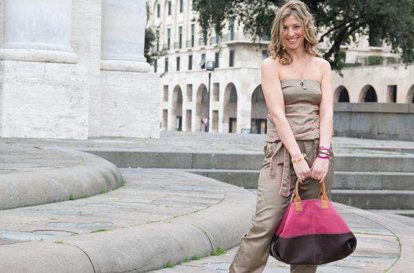 Cristina Lodi con tuta CristinaEffe