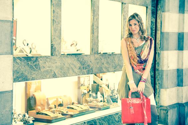 La Fashion Blogger Cristina Lodi a Genova dalla Gioielleria Natoli