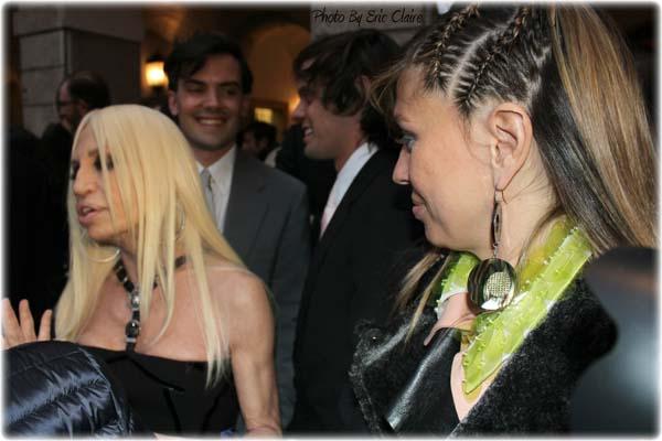 Donatella Versace e la Blogger Cristina Lodi