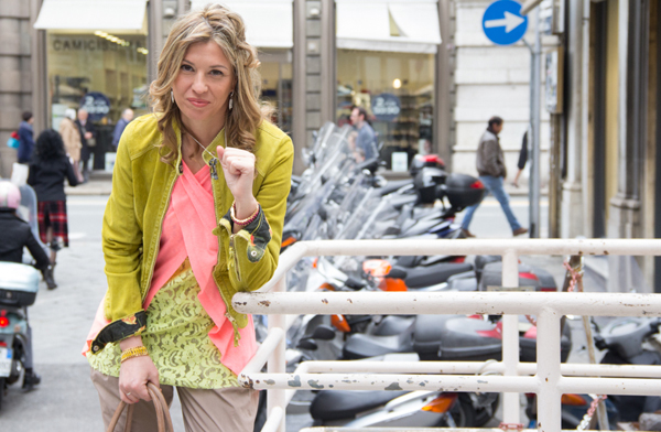 Cristina Lodi con canotta CristinaEffe