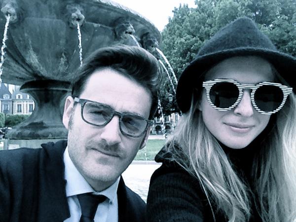 Lo scrittore Francesco Russo e la stilista fashion blogger Chiara Lodi