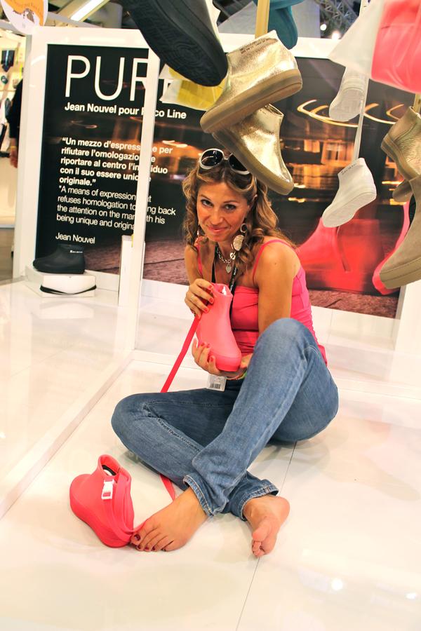 """Cristina di 2 Fashion Sisters con la """"capsule Pure"""" di Jean Nouvel per Ruco Line"""
