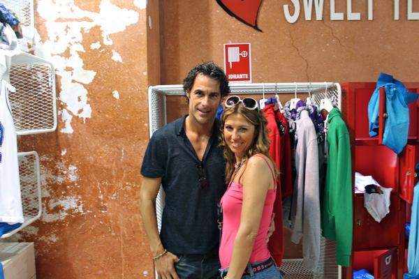 Cristina Lodi con l' amico Fabio Galante