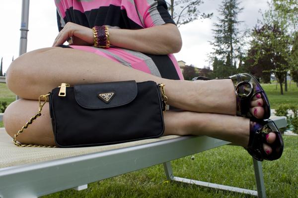 La Fashion Blogger Cristina Lodi con sandalo Gucci