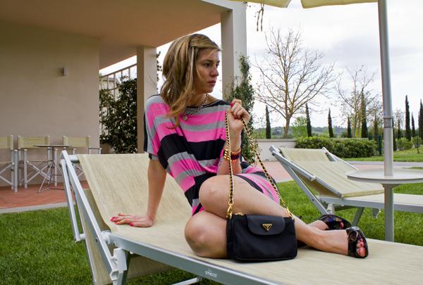 La Fashion Blogger Cristina Lodi indossa abito di CristinaEffe