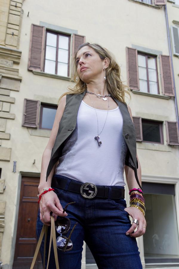 La Fashion Blogger Cristina Lodi con canotta Richmond X