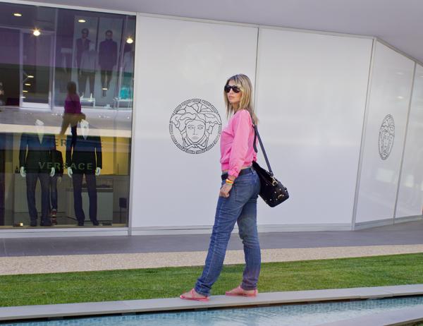 La Fashion Blogger Cristina Lodi fa shopping da Versace
