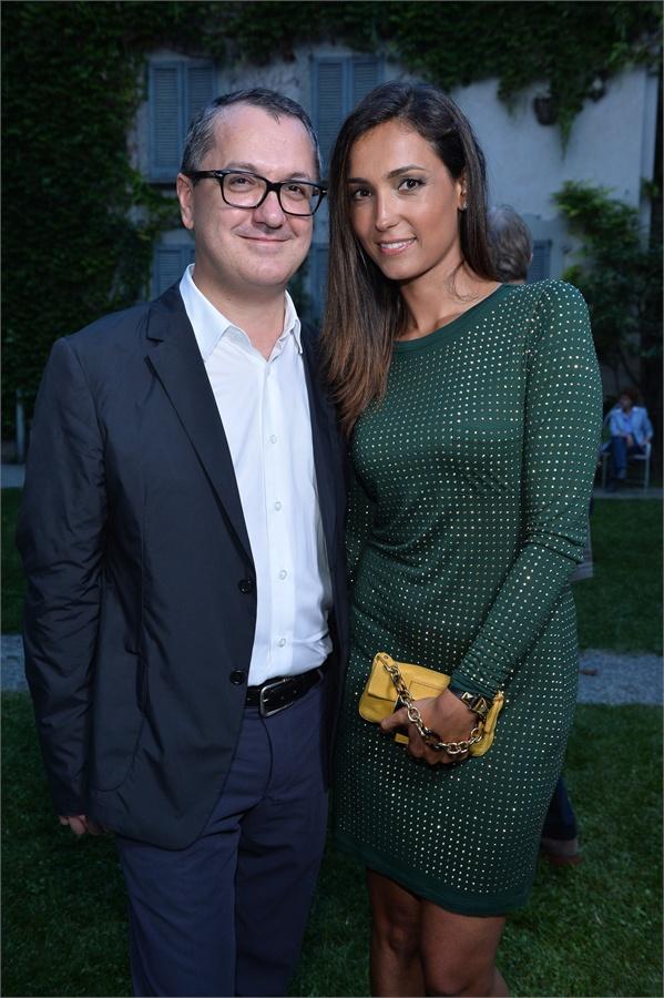 Il direttore di Vanity Fair Luca Dini con Caterina Balivo