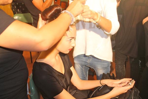 Paola Frani, back stage