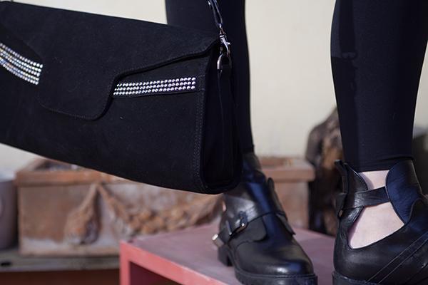 borsa loriblu, scarpe zara, 2 fashion sisters
