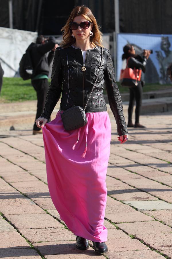 cristina lodi, fashion blogger italia, mfw, gonna rosa Roberto Cavall