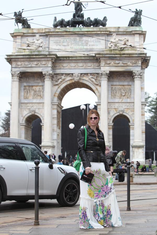 cristina lodi, gonna roberto cavalli, fashion blogger italia, mfw