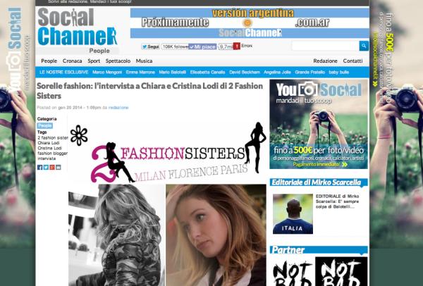 Cristina Lodi, Chiara Lodi, Social Channel