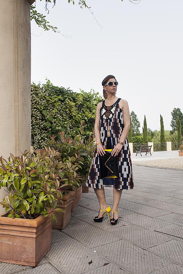 Cristina Lodi, abito Carlo Pignatelli, borsa Loriblu, scarpe loriblu, dress code