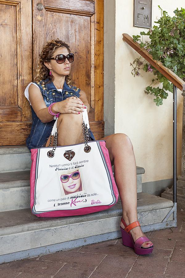 Cristina Lodi, 2 Fashion Sisters, Giubbotto Relish, scarpe Nr Rapisardi, fashion blogger italia, Borsa Le Pandorine Barbie