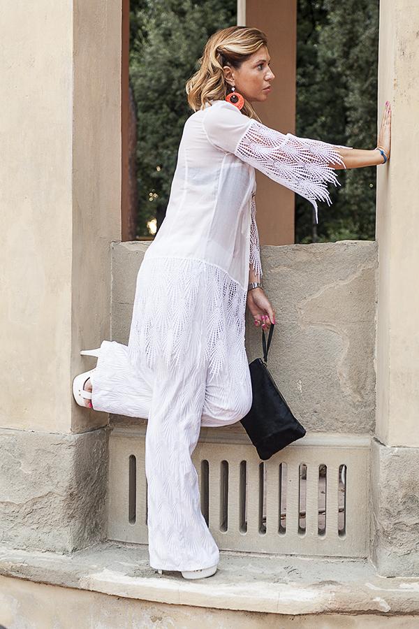 Cristina Lodi, 2 fashion sisters, orecchini ottaviani, fashion blogger italia, abito Isa  Belle