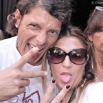 Aldo Montano con la fashion blogger Cristina Lodi, 2 fashion sisters