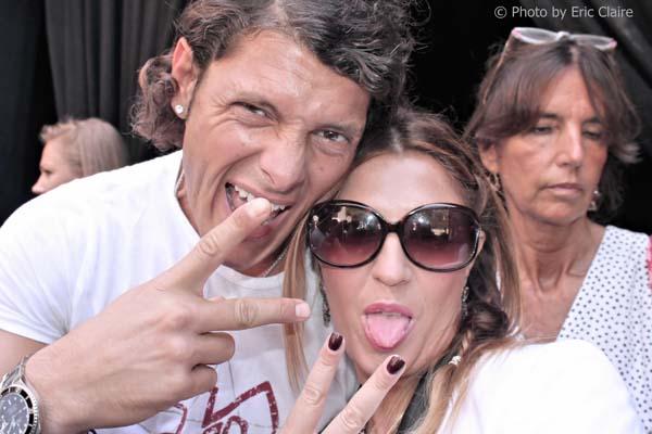 Aldo Montano con la fashion blogger Cristina Lodi, Risorgere e Vincere, 2 fashion sisters