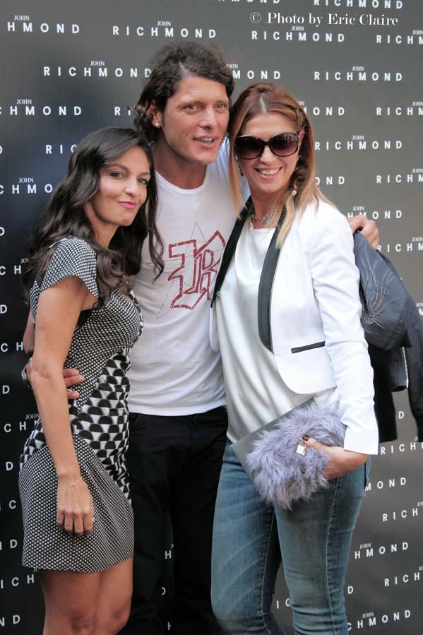 Alessandra Moschillo, Aldo Montano, Cristina Lodi di 2 Fashion Sisters, parterre John Richmond