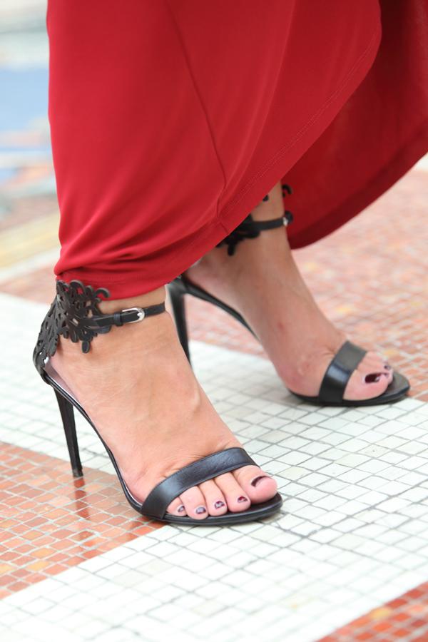Cristina Lodi, abito rosso, 2 fashion sisters, fashion blogger