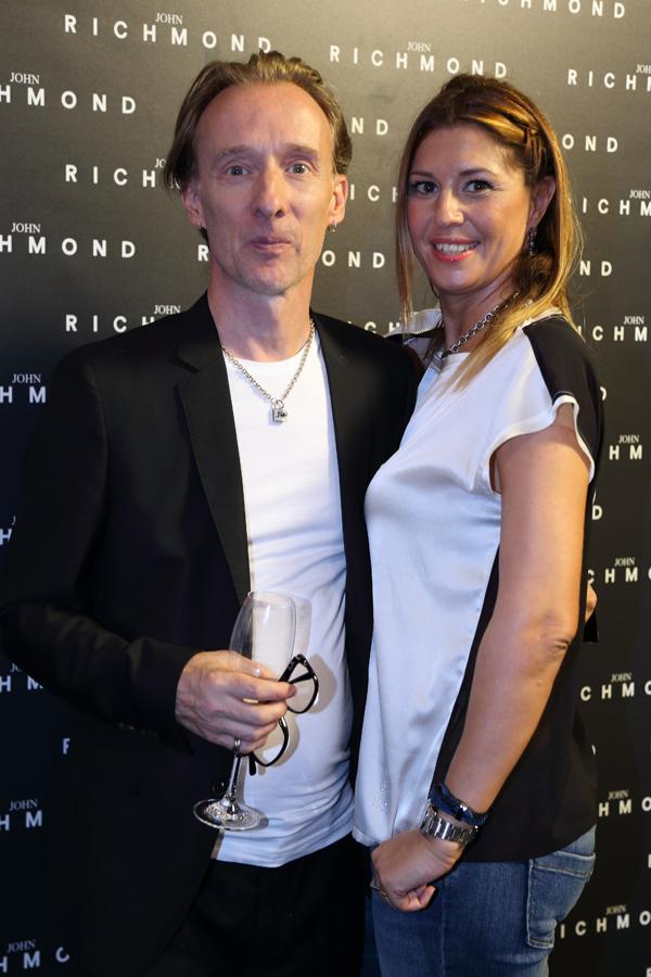 John Richmond e Cristina Lodi, parterre John Richmond