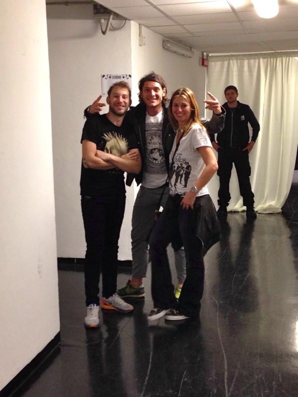 Ballo, Aldo Montano, Cristina Lodi, Logico Tour 2014, back stage