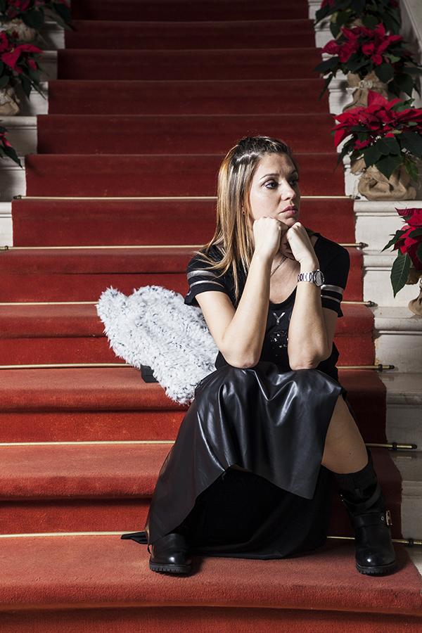 Cristina Lodi, gioiello siamo tutti scimmie, boots Emanuelle Vee, fashion blogger italia, villa la borghetta
