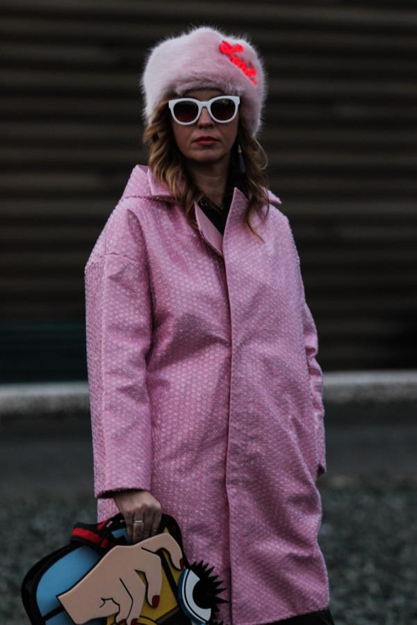 Cristina Lodi, street style, fashion blogger, cappello Richkids, occhiali Athina Lux, pitti 87