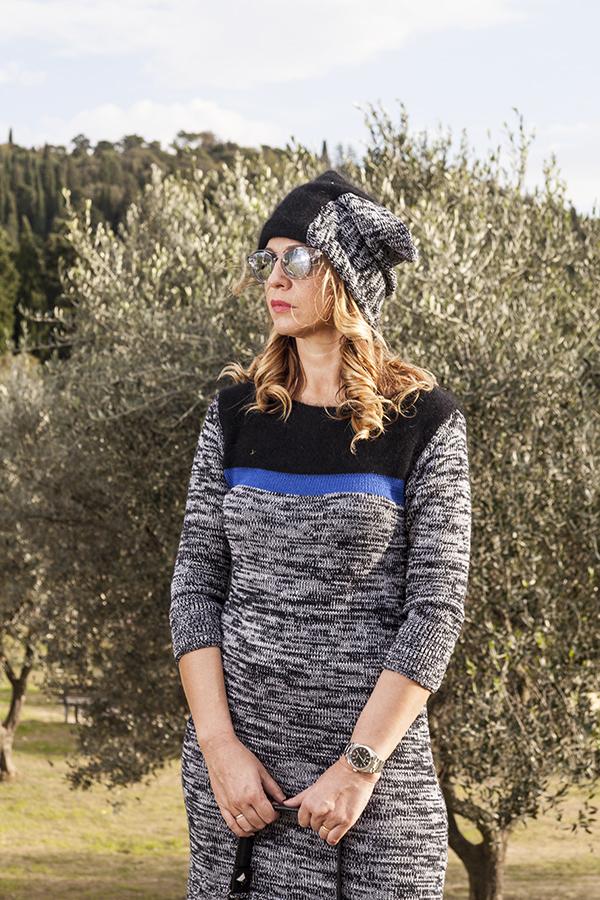 Cristina Lodi, 2 fashion sisters, fashion blogger, abito di lana CristinaEffe, Rolex