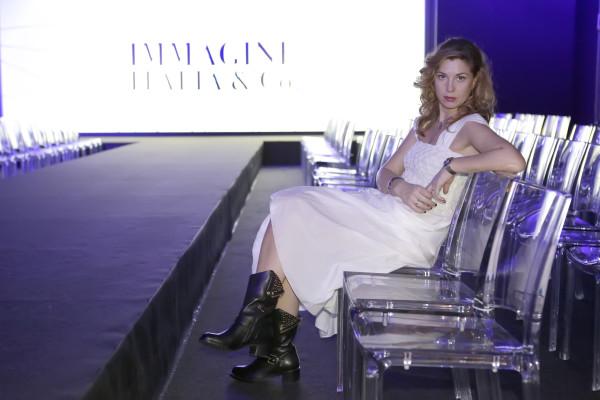 Cristina Lodi, abito lungo bianco Grazia 'Lliani, boots luciano barachini, 2 fashion sisters, immagine italia, fashion blog