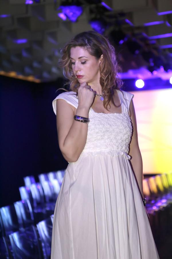 Cristina Lodi, bracciale breil, 2 fashion sistera,immagine italia, abito lungo grazia 'lliani
