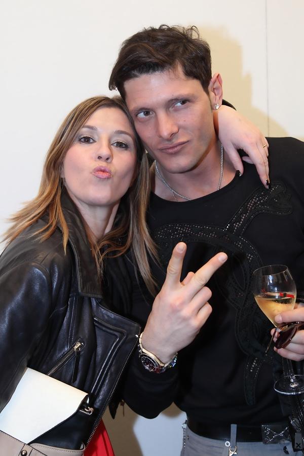 Cristina Lodi con l'amico Aldo Montano