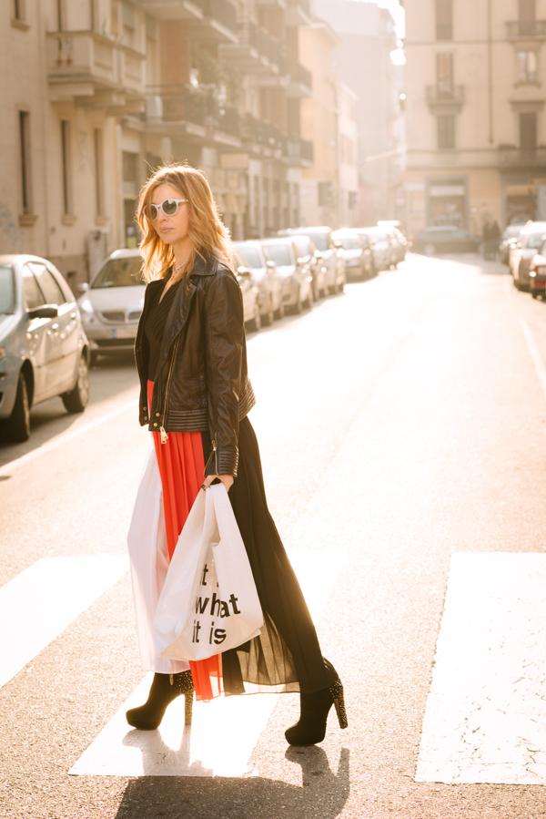 Cristina Lodi,abito ginger collezione glam  by cristinaeffe, bag pomikaki, occhiali athina lux, tronchetti luciano barachini