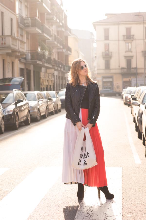 Cristina Lodi,abito ginger collezione glam  by cristinaeffe, bag pomikaki, occhiali athina lux