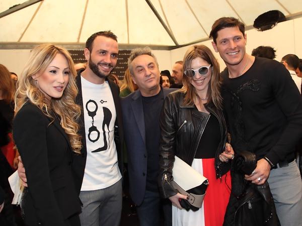 Silvia Slitti, Giampaolo Pazzini, Saverio Moschillo, Cristina Lodi, Aldo Montano, Johrn Richmond, 2 fashion sisters, mfw