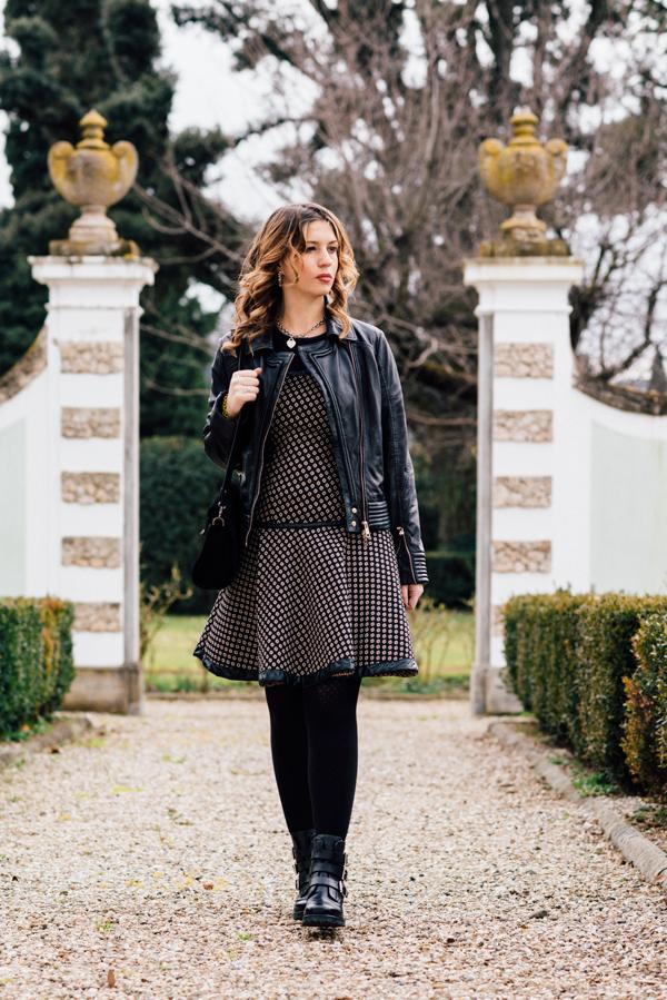 Cristina Lodi, abito CristinaEffe, borsa Loriblu, boots Luciano Barachini, Villa Olmi