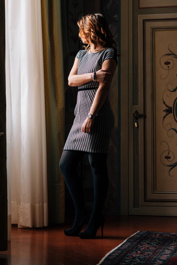 Cristina Lodi, abito CristinaEffe, look da ufficio, Villa Olmi