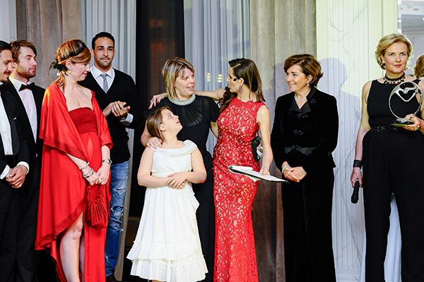 Infant Charity Award, Palazzo Parigi, 2 fashion sisters, Cristina Lodi, Adil Rami, Susanna Rossi, Cristina De Pin