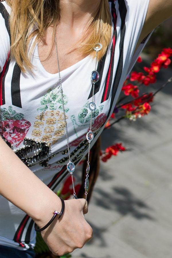 Cristina Lodi, maglia cristinaeffe, collana ottaviani