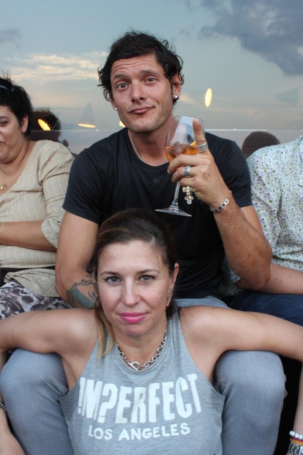 Aldo Montano con l'amica Cristina Lodi, imperfect, Richmond