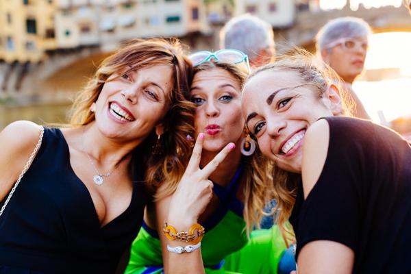 Eleonora Natali, Cristina Lodi, Elisa Zanetti, firenze, ponte vecchio