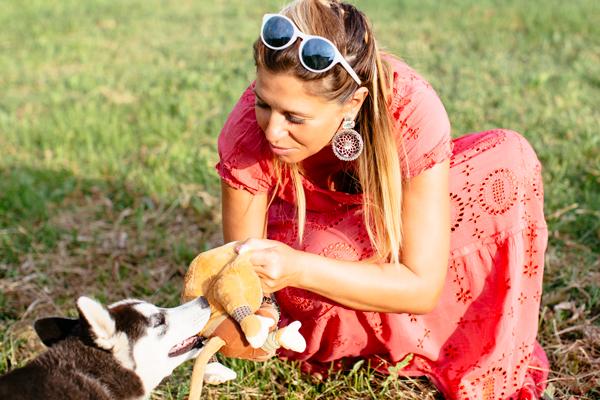 Cristina Lodi, siberian husky, abito cristinaeffe, vacanze, chianti, orecchini ottaviani, occhiali athina lux, fashion blogger