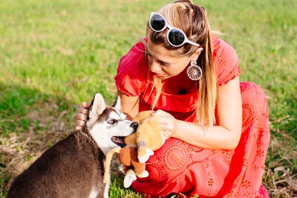 Cristina Lodi, siberian husky, abito cristinaeffe, vacanze, chianti, ottaviani, occhiali athina lux, fashion blogger, orecchini ottaviani
