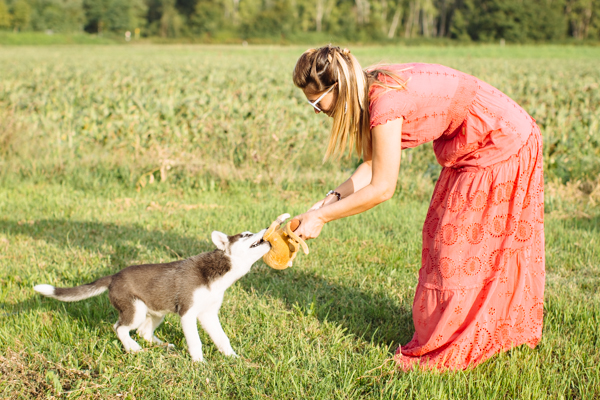 Cristina Lodi, siberian husky, abito cristinaeffe, vacanze, chianti, ottaviani, travel
